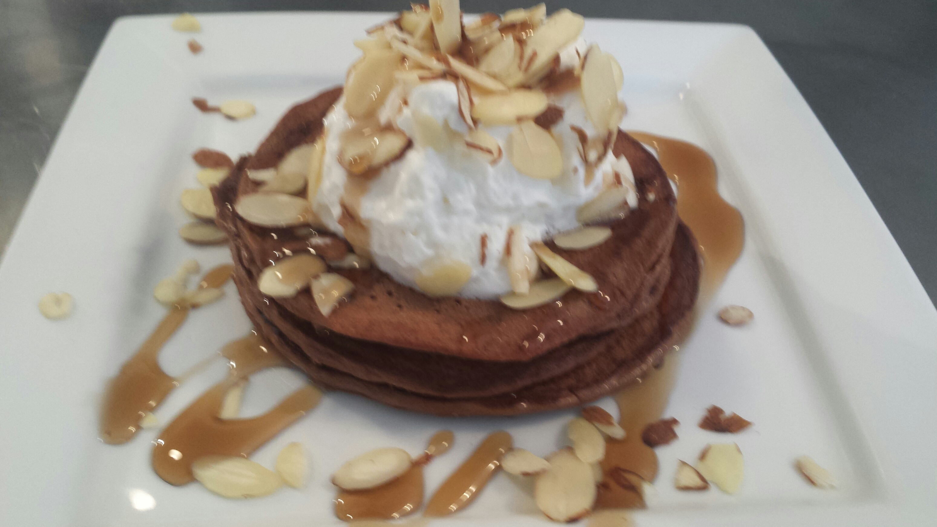 Chocolate Pancakes! Need I say more….yum! Enjoy!